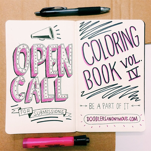 Doodlers Anonymous Coloring Book Vol. 4