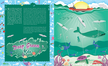 Deep Green Kite by Leona Clarke