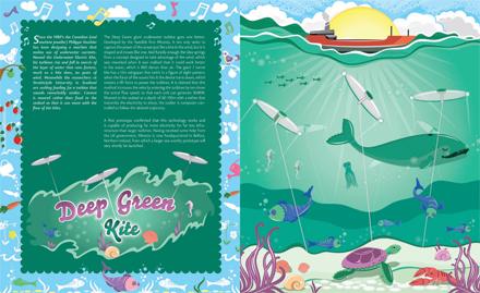 Deep Green Kite by Leona Clarke