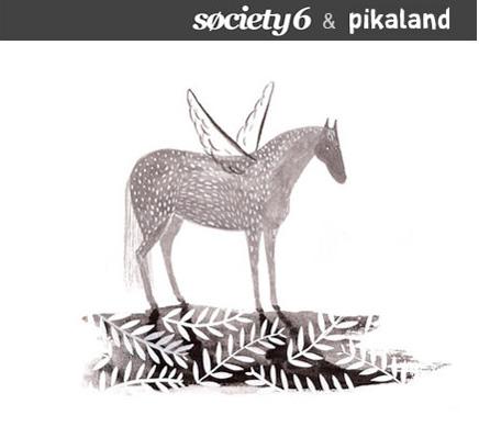 Society6 x pikaland