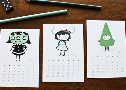 Milk and cookies 2012 calendar