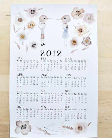 2012 calendar Julianna Swaney