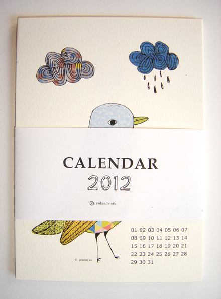 2012 calendar Mademoiselle Yo