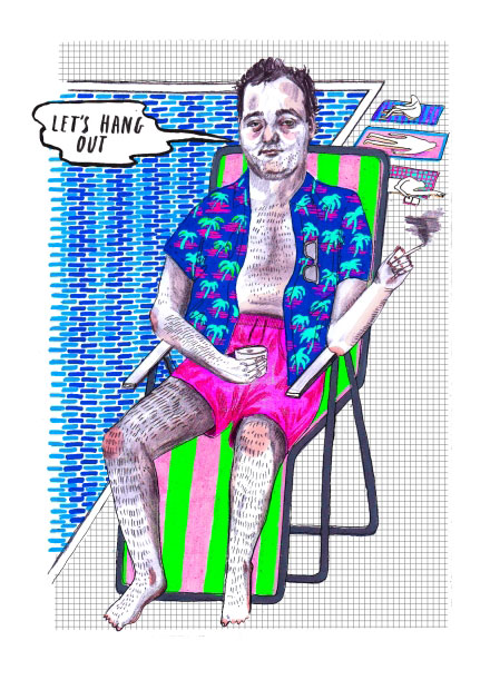 bill murray colouring book - Thrill Murray Coloring Book