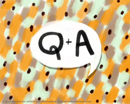 Q+A illustration by Amy of Pikaland!